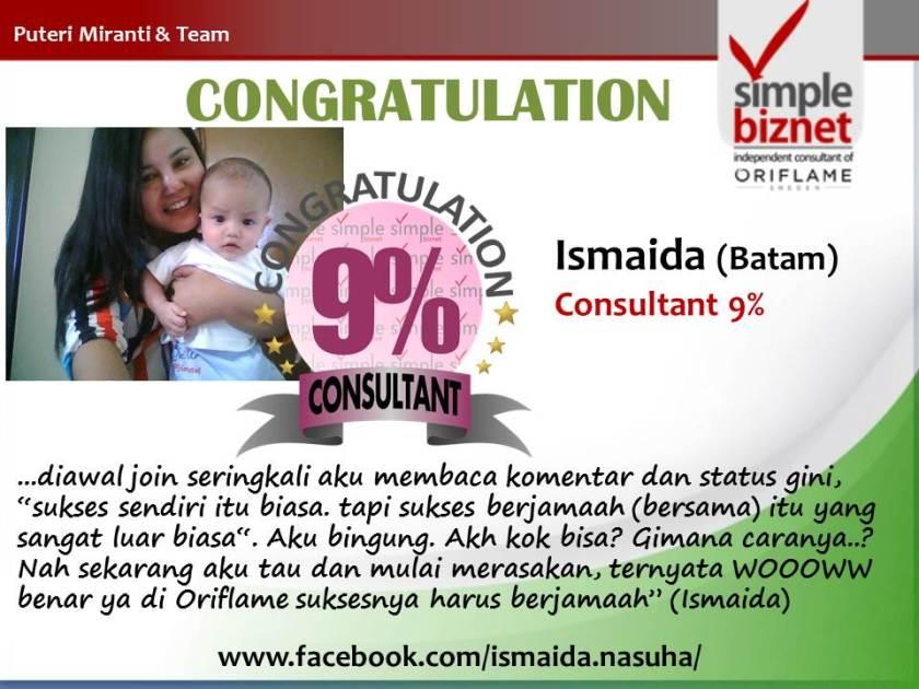 New Achiever 9% yaitu Ismaida Batam (November 2013)